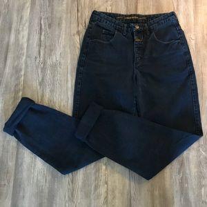 ✨ Vintage Dark Wash High Waisted Mom Jeans